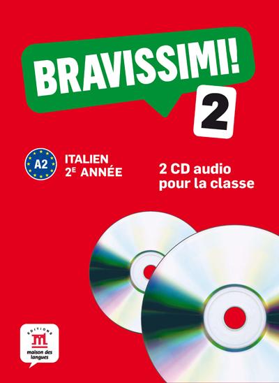 Bravissimi! 2e année - Coffret de 2 CD audio pour la classe