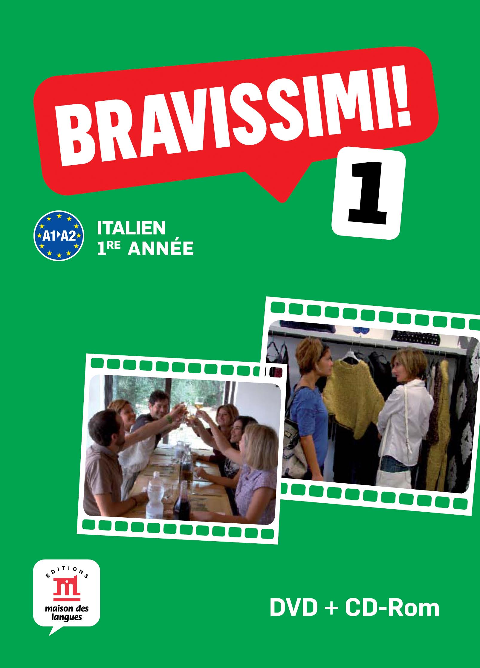 Bravissimi! 1re année - Pack DVD + CD-Rom d'exploitation