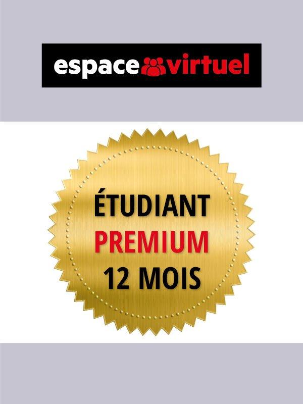Espace virtuel - Code de licence Premium Étudiant de 12 mois