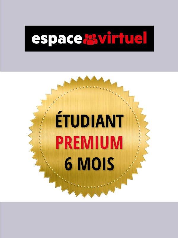 Espace virtuel - Code de licence Premium Étudiant de 6 mois